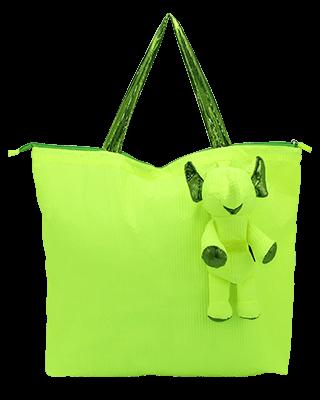 Eleph Foldable Bag Pleat Lime