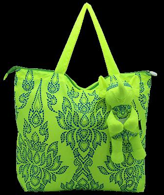 Eleph Foldable Bag Chalu Lime/Blue