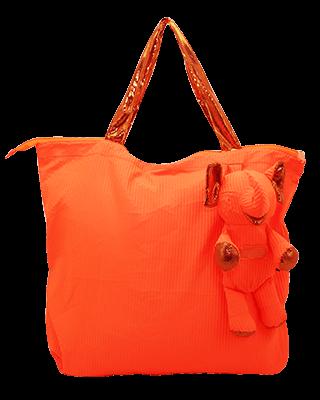 Eleph Foldable Bag Pleat Orange