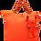Thumbnail: Eleph Foldable Bag Pleat Orange