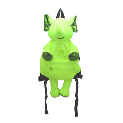 Eleph Mascot Backpack Pleat Lime