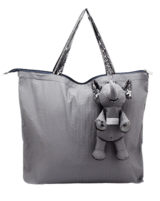 Eleph Foldable Bag Pleat Grey