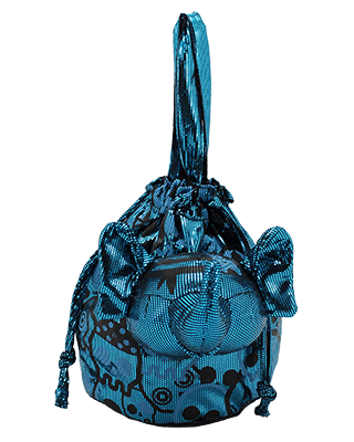 Eleph Disco Skull Pouch Turquoise