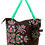 Thumbnail: Eleph Foldable Bag Pudtarn Choc/Green-Pink