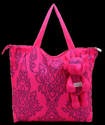Eleph Foldable Bag Chalu Pink/Purple