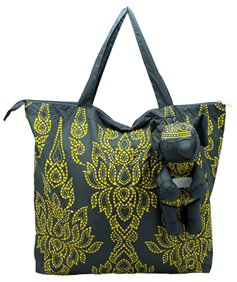 Eleph Foldable Bag Chalu Grey/Yellow
