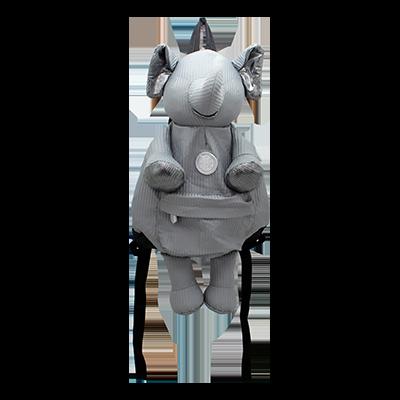 Eleph Mascot Backpack Pleat Grey