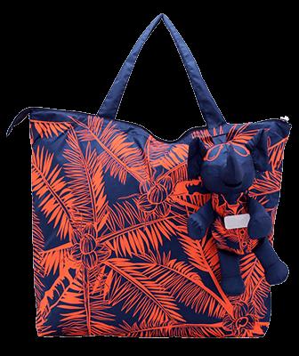 Eleph Foldable Bag Coco Navy/Orange