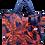 Thumbnail: Eleph Foldable Bag Coco Navy/Orange