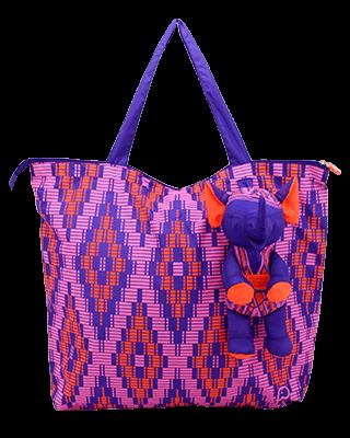 Foldable Bag Mudmee Purple/Pink-Orange