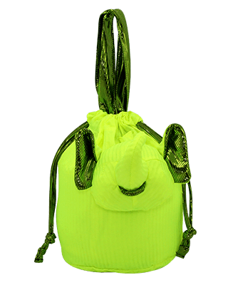 Eleph Pouch Pleat Lime