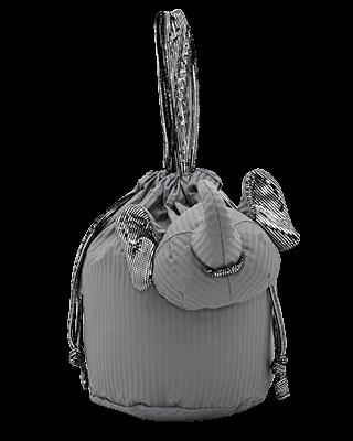 Eleph Pouch Pleat Grey