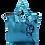 Thumbnail: Eleph Foldable Bag Disco Turquoise