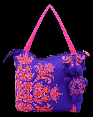 Eleph Foldable Bag Pudtarn Purple/Pink-Orange