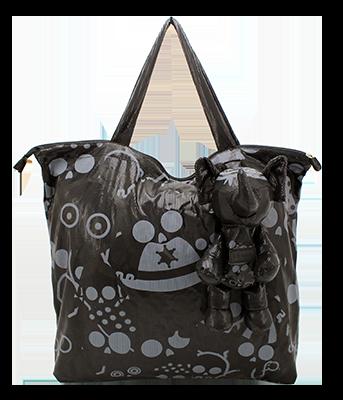 Eleph Foldable Bag Disco Skull Black