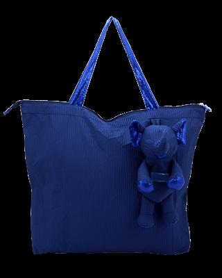 Eleph Foldable Bag Pleat Navy