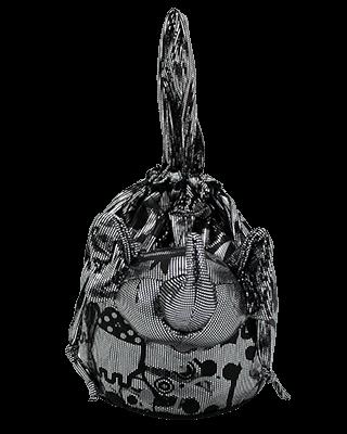 Eleph Disco Skull Pouch Silver