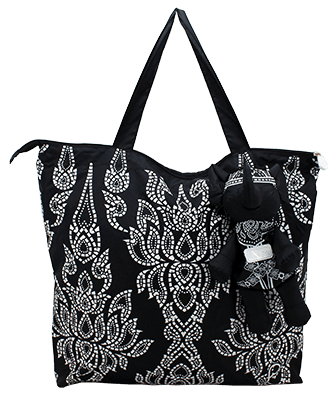 Eleph Foldable Bag Chalu Black/White