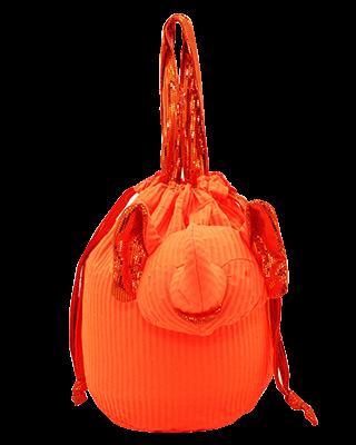 Eleph Pouch Pleat Orange