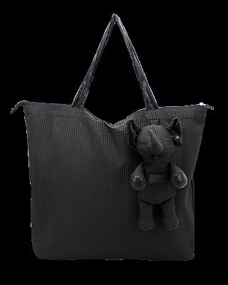 Eleph Foldable Bag Pleat Black