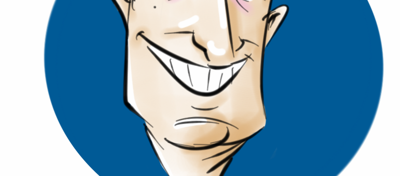 Caricatura ao vivo em evento em formato digital