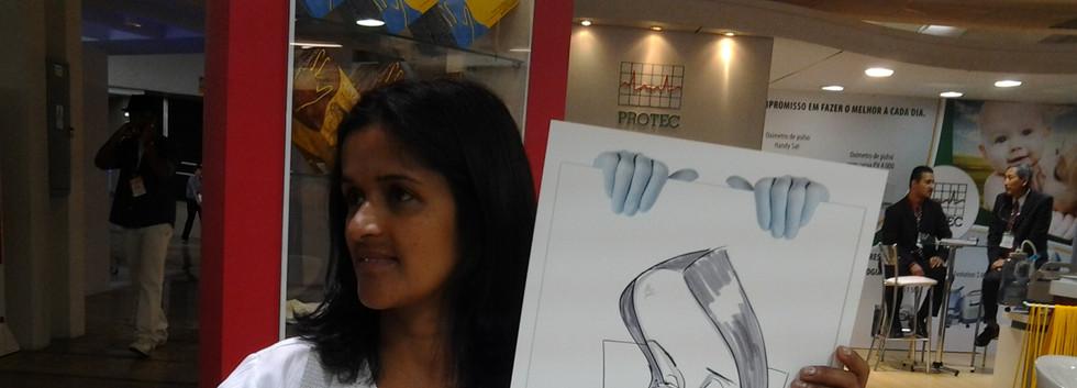 Caricatura ao vivo em evento em tamanho A3
