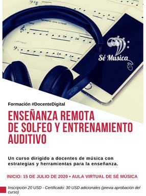 Enseñanza Remota del Solfeo y Entrenamiento Auditivo