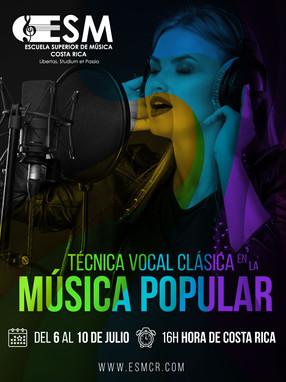 Técnica Vocal Clásica en la Música Popular