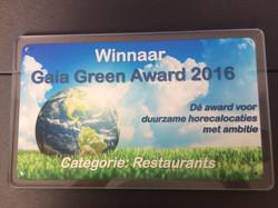 Gaia Green Award Deurbord - Foto