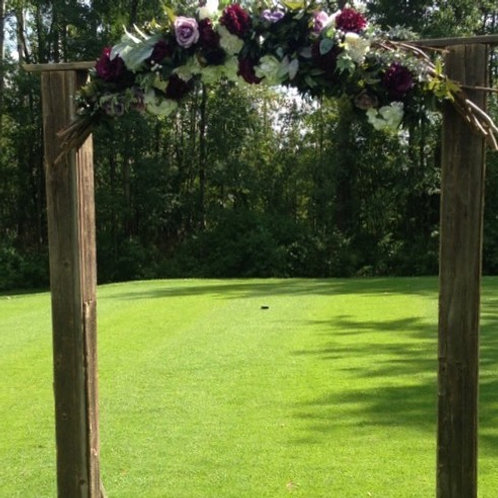Barn wood & Willow Archway with Top Florals