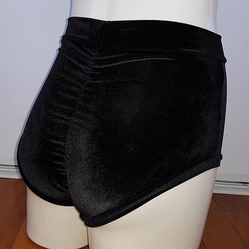 Velvet High-Waisted Hot Pants