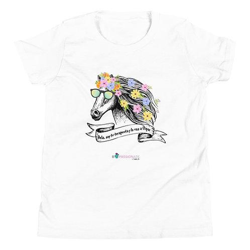 Camiseta adolescente 'Caballo terapeuta'