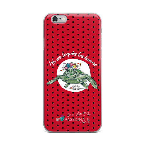 Fundas para iPhone rojas 'Tortuga cojonuda'