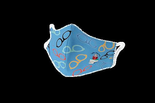 Blue reusable glasses 'The smart dog' mask
