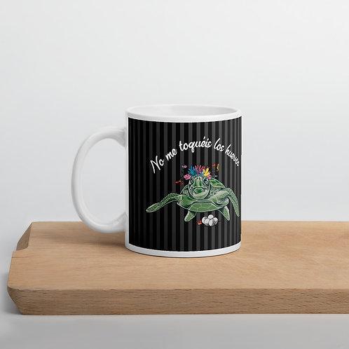 Taza negra 'Tortuga cojonuda'
