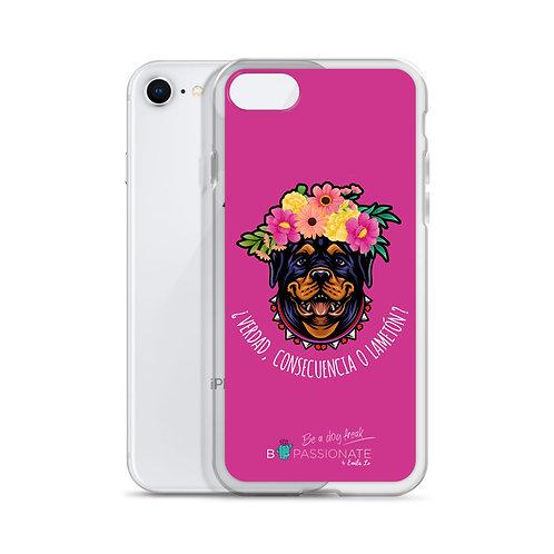 Fuchsia 'Loving Dog' iPhone cases
