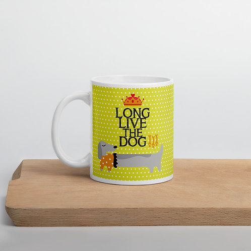 Taza amarilla 'Long live the dog'
