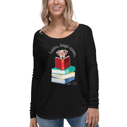 Flowy long sleeve t-shirt 'The smart dog'