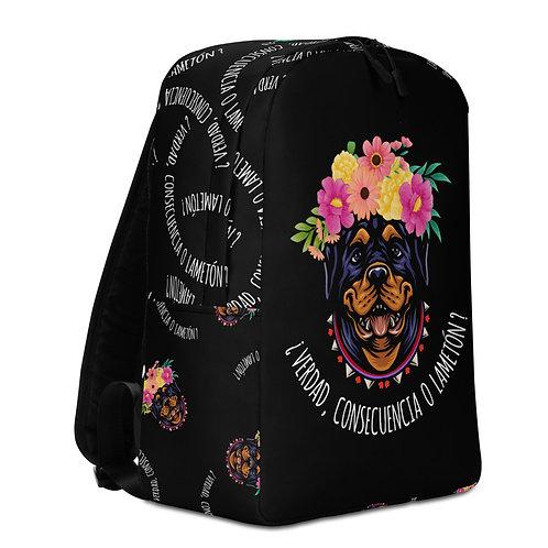 Large black 'Loving dog' backpack