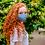 Thumbnail: Reusable blue polka dot 'The smart dog' mask