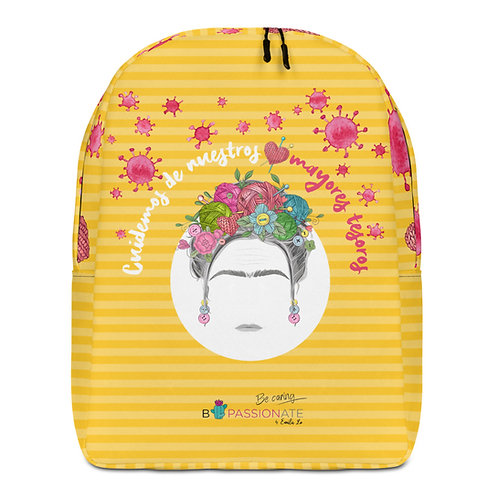 Large yellow 'Greater Treasures' backpack