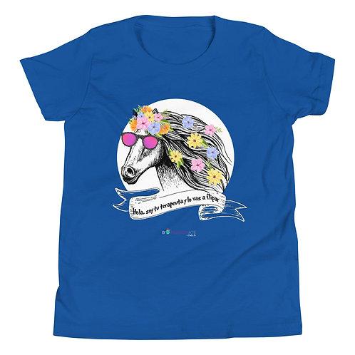 Teen T-shirt 'Therapist horse'