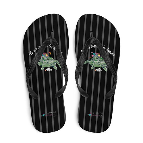 Black 'Great turtle' flip-flops