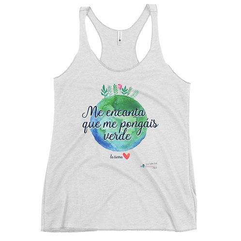 Camiseta mujer sin mangas 'Planet lover'