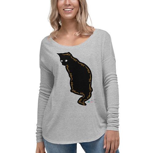 Camiseta flowy manga larga 'Lucky cat 3'