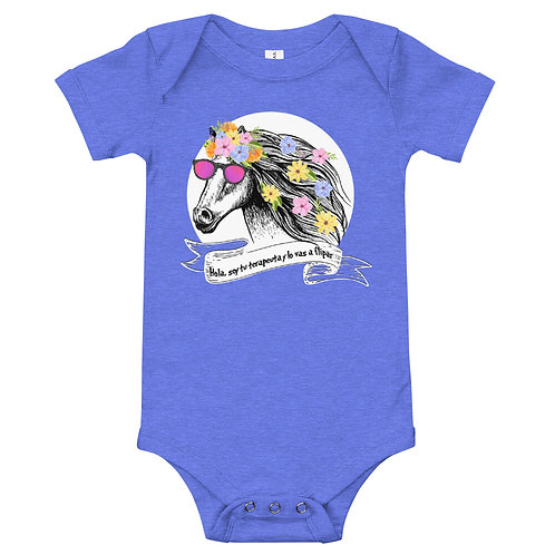 Baby bodysuit 'Therapist horse'