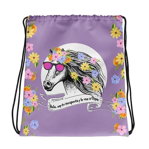 Basic purple 'Therapist horse' backpack