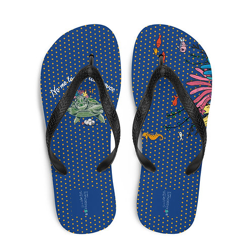 Navy blue 'Great turtle' flip-flops