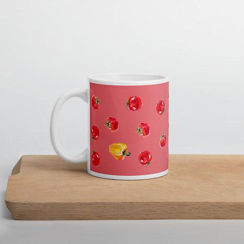 Coral 'Veggie lover' mug