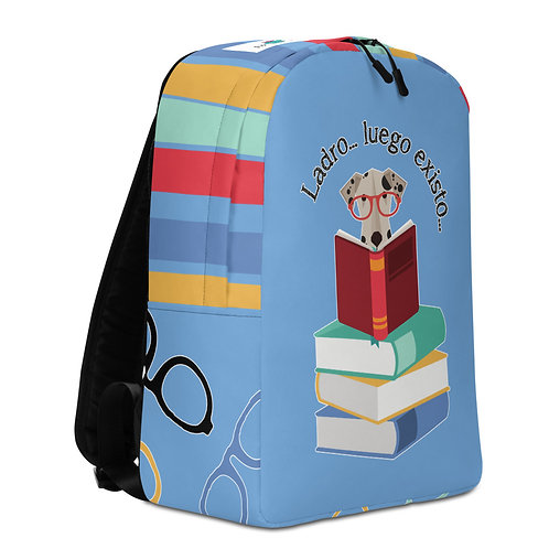 Large blue 'The smart dog' backpack